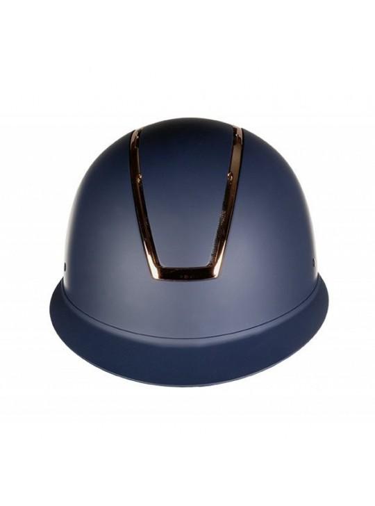 HKM Lady Shield Navy Rosegold Ridehjelm
