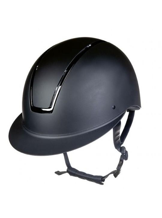 HKM Lady Shield Black Shiny Ridehjelm