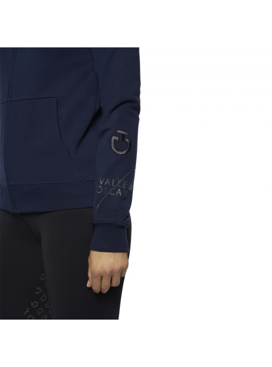 """CT """"Team"""" Multi-Logo Zip Hoodie, Electric Blue"""