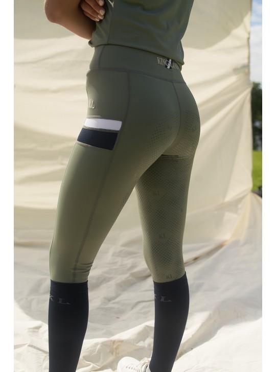 KL Karina Compression Stribe Tights, grøn