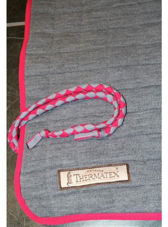 Thermatex Quarter Rug Grey & Cerise
