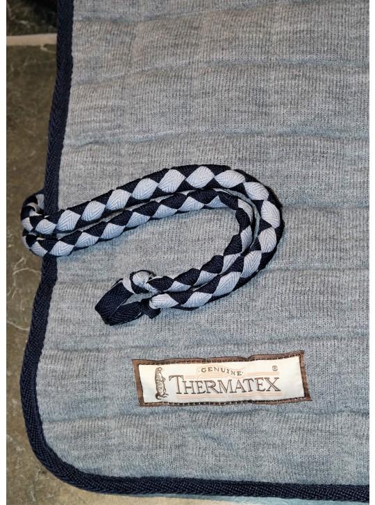 Thermatex Quarter Rug Grey & Navy