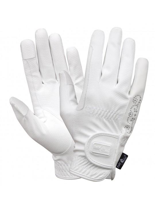 Fairplay Pammy Krystal handske, Hvid