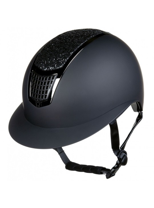 HKM Ridehjelm Glamour Shield, Sort/Sort