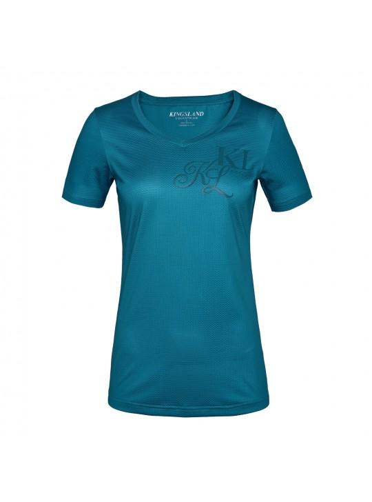 KL janisi v-udskæring t-shirt dame, Lagoon