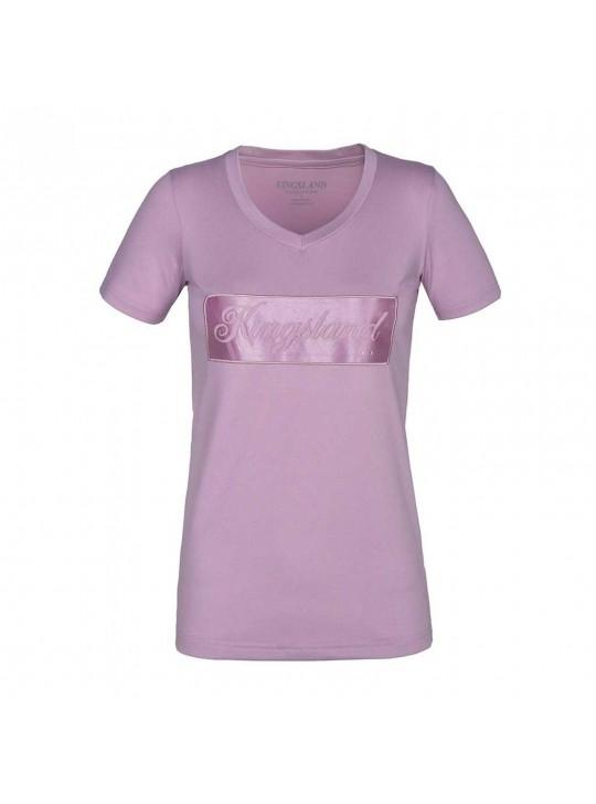 KL luna t-shirt m/v-udskæring, Rosa