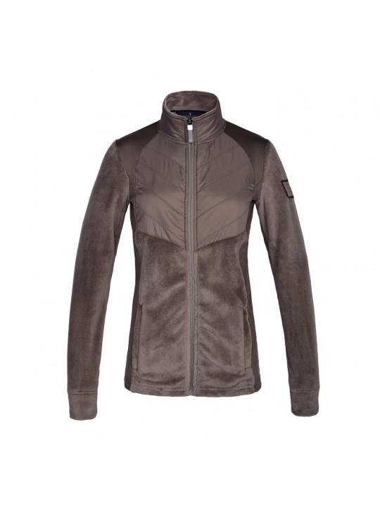 KL Malina damer fleece jakke, Brown Driftwood