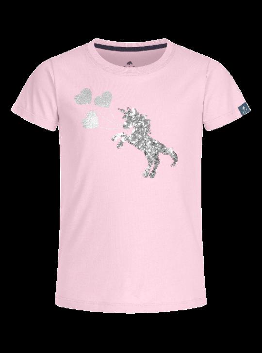 WH Lucky Flora børnebluse, lyserød