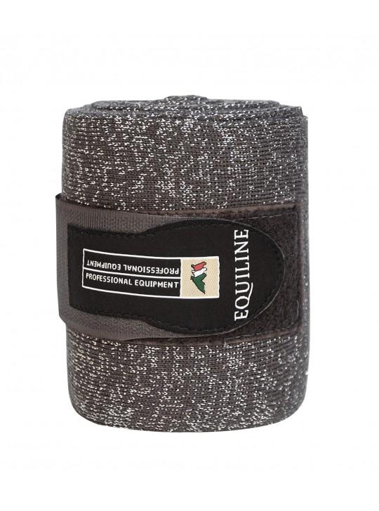 Equiline Glitter Bandager, Grå