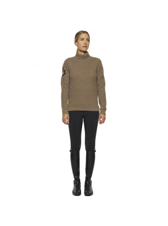 CT Eco Merinos Tutleneck Double Knit Sweater, Mud