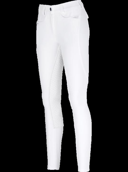 Pikeur Laure Full-Grip Ridebukser, Hvid