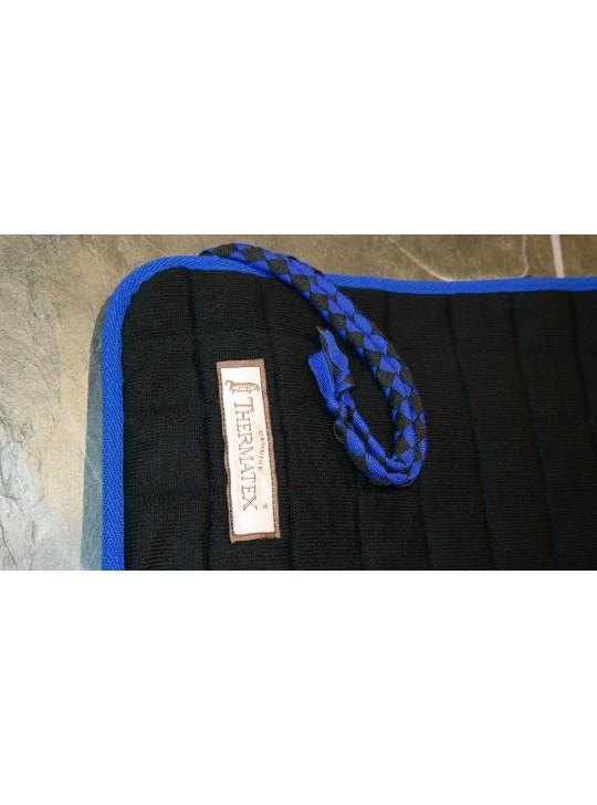 Thermatex Quarter Rug Black & Royal Blue