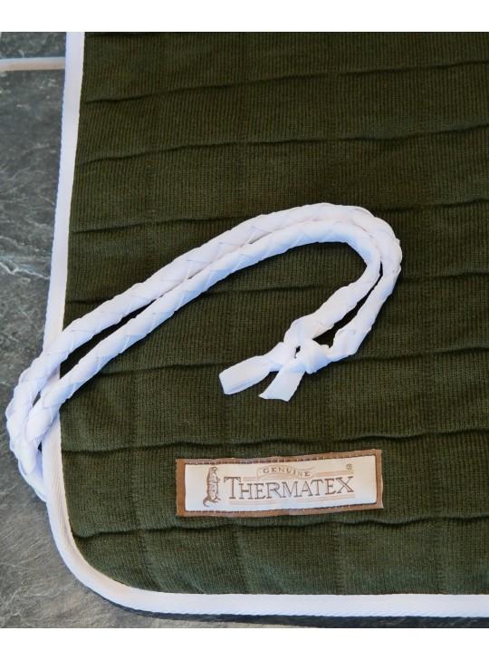 Thermatex Quarter Rug Olive & White